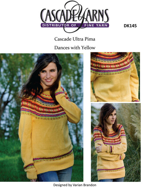 Dances With Yellow In Cascade Ultra Pima Dk145