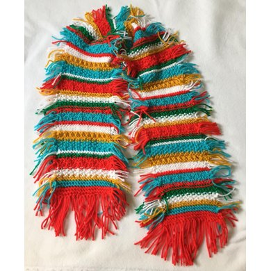 Color Me Christmas Scarf Knitting Pattern By Frugal Knitting Haus