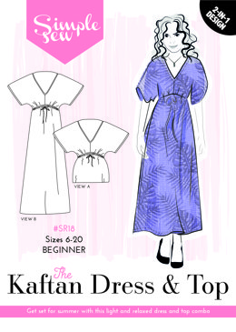 Simple Sew Patterns The Kaftan Dress & Top SR18 - Sewing Pattern