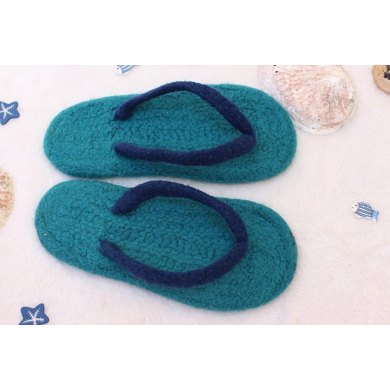 Summer Flippers - Felted Flip-Flop Slippers