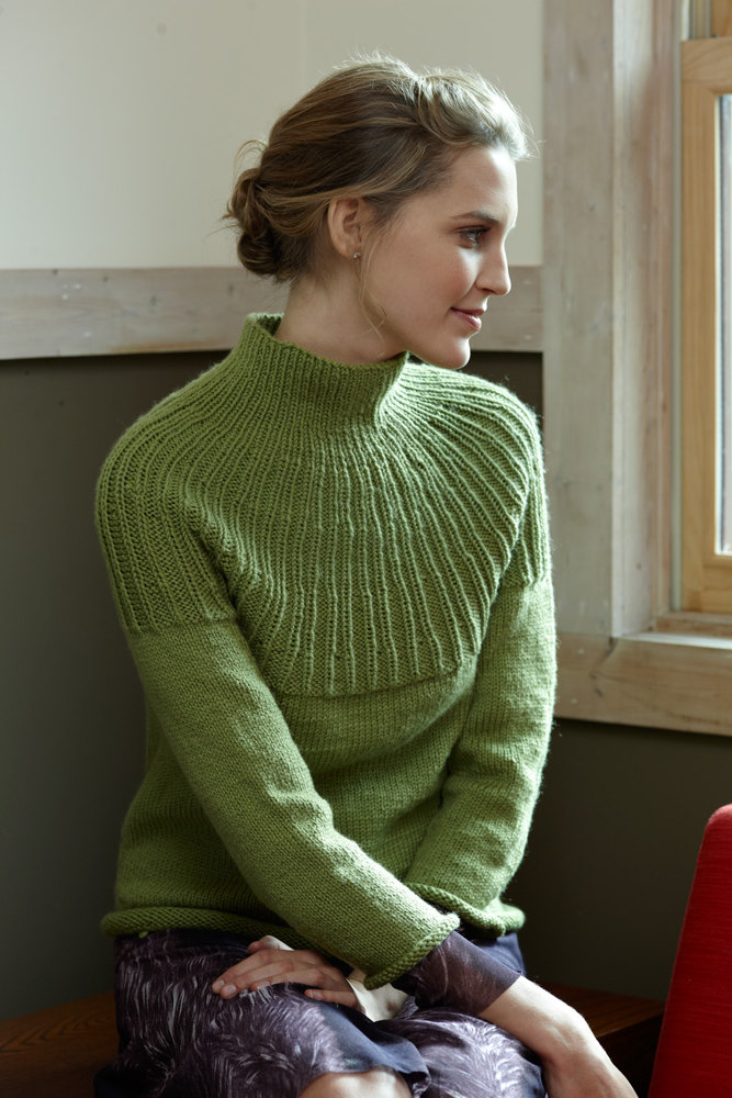 Knitting Sweaters From The Top Down : Top down pullover in lion brand superwash merino cashmere