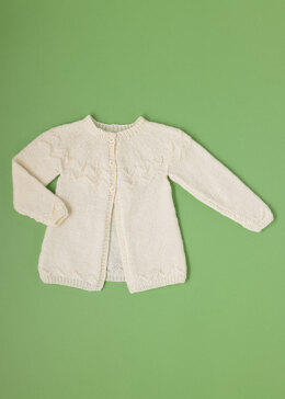 """See Saw Cardigan"" - Cardigan Knitting Pattern For Babies in Paintbox Yarns Simply DK - DK-Baby-001"