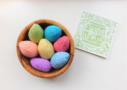 Cute Little Knitted Easter Eggs