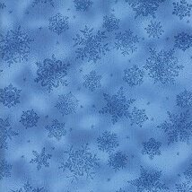 Moda Fabrics Forest Frost Glitter II Winter Metallic Snowflakes Light Blue