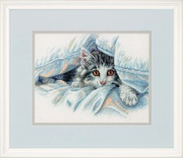 Dimensions Cat Comfort Cross Stitch Kit - 25.4cm x 20cm
