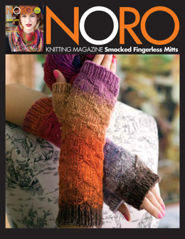 Smocked Fingerless Mitts in Noro Kureopatora - 20 - Downloadable PDF