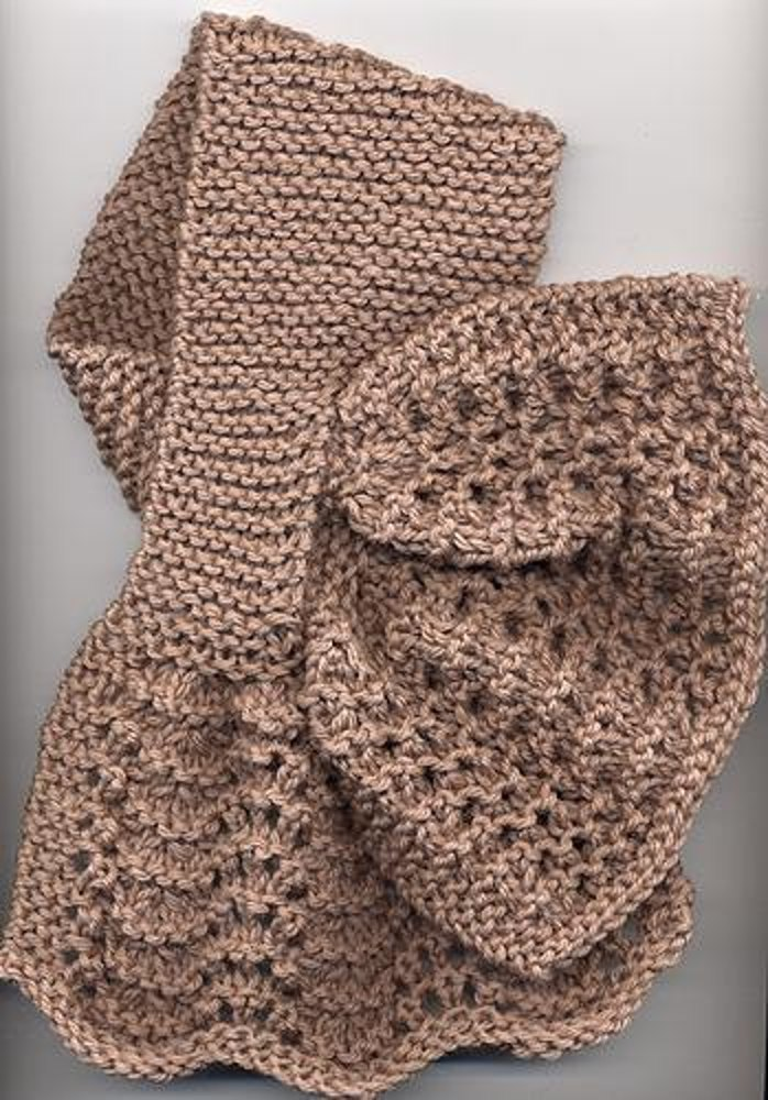 Knitting Pattern Central Bags : Criss-Cross Lace Scarf Knitting pattern by Anne Hanson ...