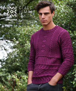 Claes Jumper in MillaMia Naturally Soft Aran - Downloadable PDF