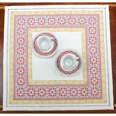 Avlea Folk Embroidery Byzantine Rose Border - Downloadable PDF
