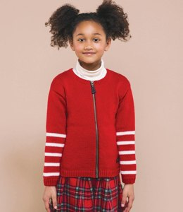 Girls Zipped Cardigan in Bergere de France Barisienne - 60398-02 - Downloadable PDF