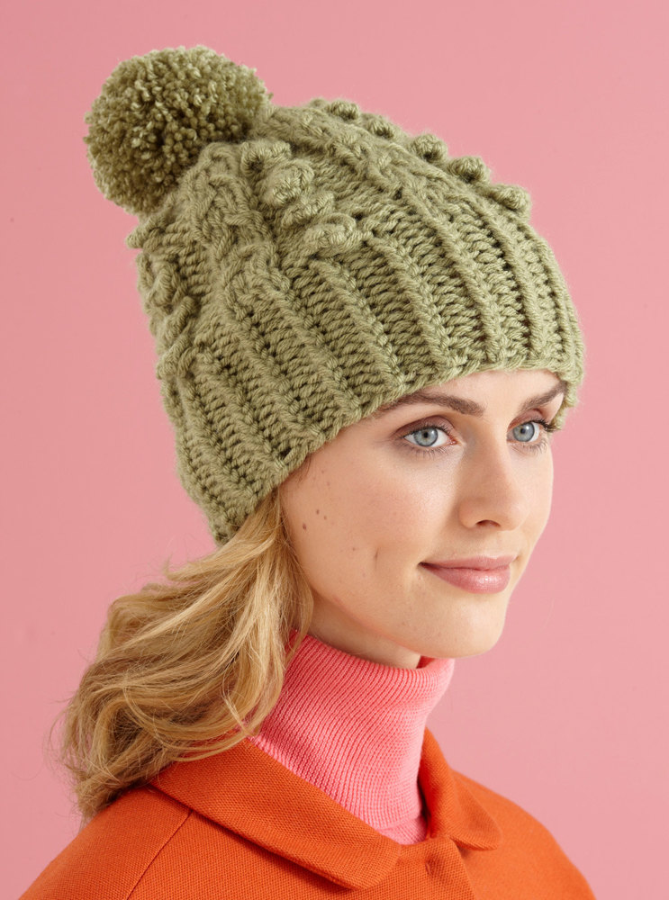 Cable Vision Hat In Lion Brand Vanna S Choice L10588