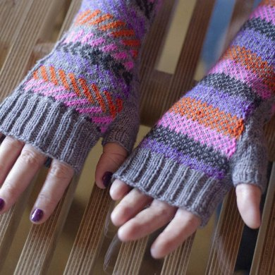 No Tricks All Treats Fingerless Mitts