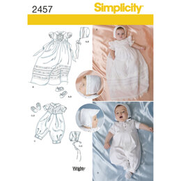 Simplicity Babies' Special Occasion 2457 - Paper Pattern, Size A (XXS-XS-S-M)
