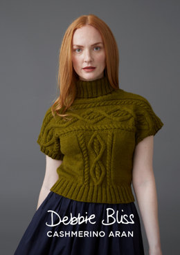 """Frances"" - Top Knitting Pattern For Women in Debbie Bliss Cashmerino Aran"