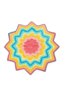Starburst Blankie in Lion Brand Mandala Baby - Downloadable PDF
