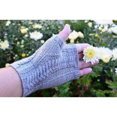 Cables Fingerless Mitts