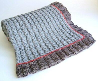 Mock Cable Baby Blanket