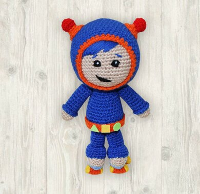 Crochet Boy Doll Pattern, Geo Team Umizoomi Crochet Pattern, Team Umizoomi Boy Pattern, Team Umizoomi Character Crochet Pattern