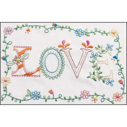 BucillaLove Stamped Embroidery Kit - 8in x 10in