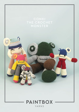 Conki the Crochet Monster in Paintbox Yarns - Downloadable PDF