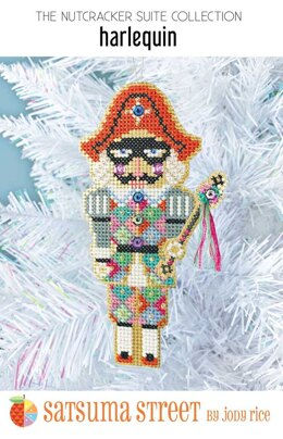 Satsuma Street Harlequin Nutcracker Cross Stitch Kit
