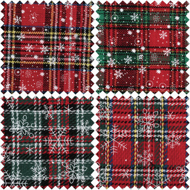 Trimits Tartan Fat Quarter Bundle - Red Christmas