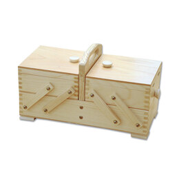 Sewandso Small Cantilever Sewing Box, Pine Wood