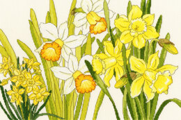 Bothy Threads  Daffodil Blooms Cross Stitch Kit
