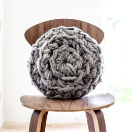 Hand Crochet Round Pillow
