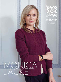 """Monica Jacket"" - Jacket Knitting Pattern For Women in MillaMia Naturally Soft Merino"