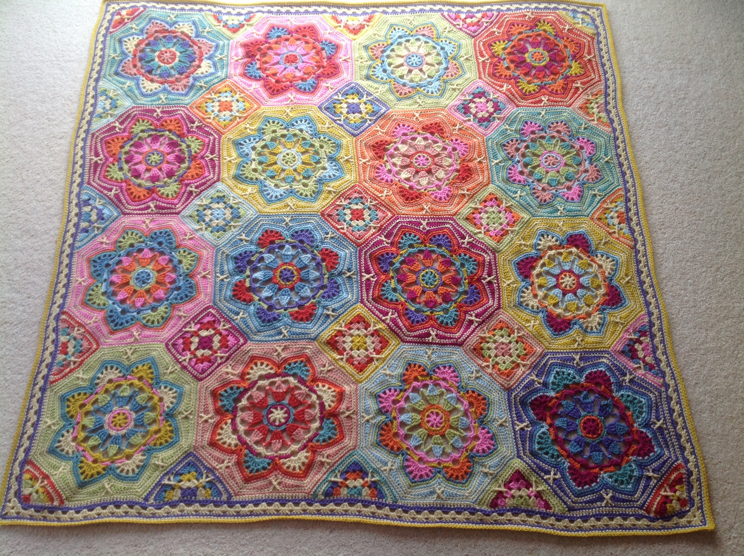 Persian Tiles Eastern Jewels Crochet Project By Tracy B