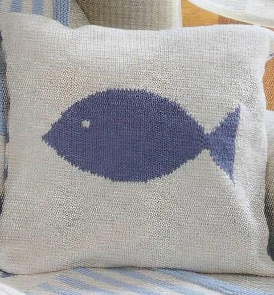 Fish cushion cover knitting pattern by sian brown fish cushion cover zoom bankloansurffo Images