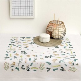 Rico Christmas Branches Embroidery Tablecloth Kit