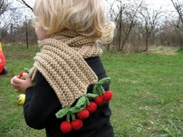 Cherries and Champagne Scarf