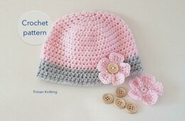 Cute baby beanie size to adult