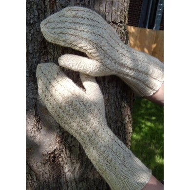 Twisted Trails Cabled Mittens