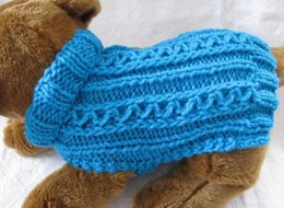 Celtic Doggie Zig Zag Rib Dog Sweater