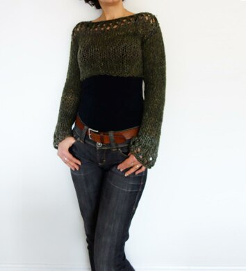 acbec80f7 Woodland Cropped Sweater Knitting pattern by CamexiaDesigns