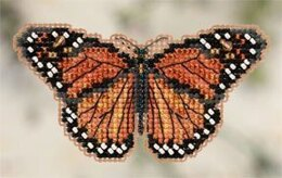Mill Hill Monarch Butterfly Fridge Magnet Cross Stitch Kit