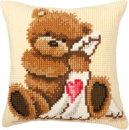 Vervaco Cross Stitch Cushion Kit Popcorn Goodnight