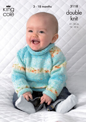 Cardigan and Sweater in King Cole Splash DK - 3118