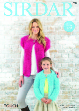 Short and Long Sleeved Cardigans in Sirdar Touch - 7920 - Leaflet