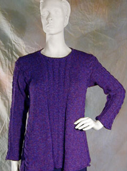 Slim Silhouette Tunic in Knit One Crochet Too 2nd Time Cotton - 1154
