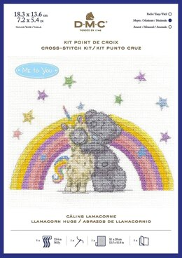DMC Tatty Teddy Llamacorn Hugs Cross Stitch Kit - 18.3cm x 13.6cm