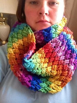 Diagonal Weave Infinity Scarf or Cowl