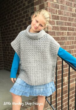 Fiona Poncho Pullover with Cowl