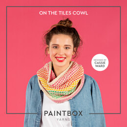 On The Tiles Cowl - Free Cowl Crochet Pattern For Women in Paintbox Yarns Cotton DK by Paintbox Yarns