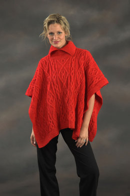 Ladies Square Poncho in Plymouth Yarn Holiday Lights - 2153