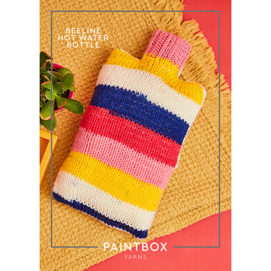 """Beeline Hot Water Bottle"" : Knitting Pattern for Home in Paintbox Yarns Bulky 