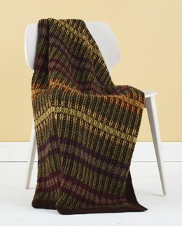 Shaded Stripes Afghan in Lion Brand Wool-Ease - L20321